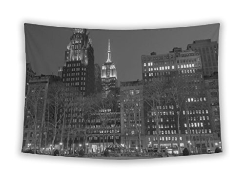 Gear New Wall Tapestry For Bedroom Hanging Art Decor College Dorm Bohemian, Empire State Bulding From Bryant Park In Black And White, - 42nd Park Bryant