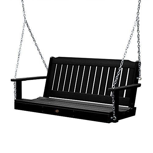 Highwood Lehigh Porch Swing 5 feet, Black ()