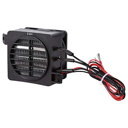 Fdit PTC Car Air Heater 100W 12V Energy Saving Small Space Car Fan Heater Constant Temperature Heating Element Heaters (12V 100W)