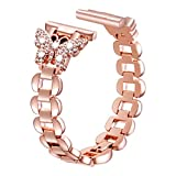 Sangaimei Watch Band Compatible with Apple Watch 42mm 44mm Stainless Steel Replacement Women Wristband for Watch Series 5/4/3/2/1 Rose Gold