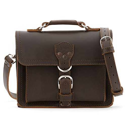 [Saddleback Leather Tablet Bag in Dark Coffee Brown] (Medium Bag Dark Coffee)