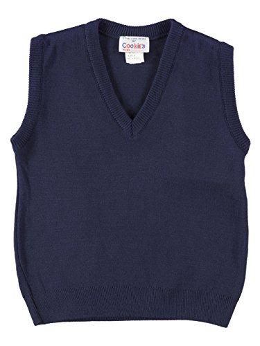 Cookie's Brand Unisex V-Neck Sweater Vest - navy, 4 by Cookie's Kids