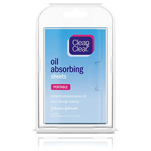 Clean & Clear Oil Absorbing Facial Sheets, 50 ct, Pack of 6