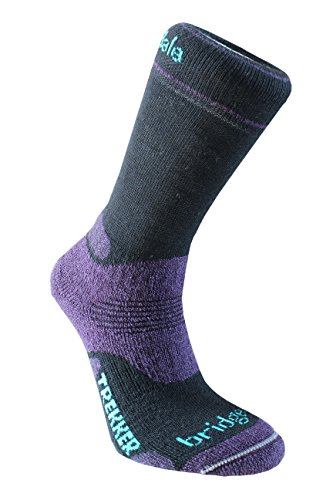 Bridgedale Women's Woolfusion Trekker Socks, Small, Black/Purple ()