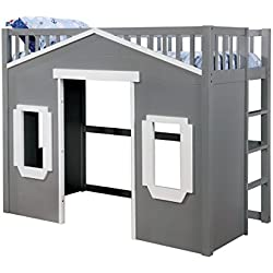 HOMES: Inside + Out IDF-7132GY-T Springer Bed, Grey