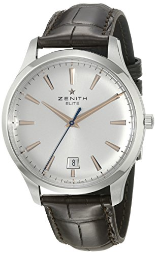 Zenith Men's 03.2020.670/01.C498 Elite Captain Central Second Silver Dial Metal Watch (Men Watch Zenith)