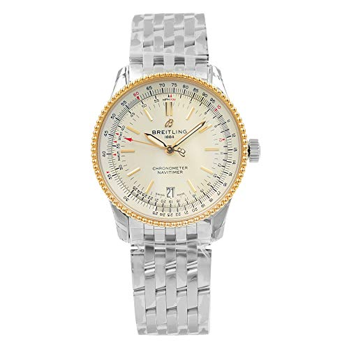Breitling Navitimer 1 Automatic 38mm Steel & Red Gold - Silver Watch U17325211G1A1