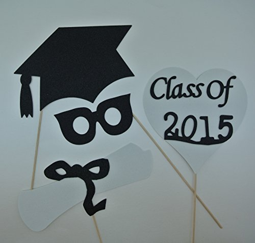 Graduation 2014 Glasses Photo Booth Props Mustache on a Stick Xmas Christmas