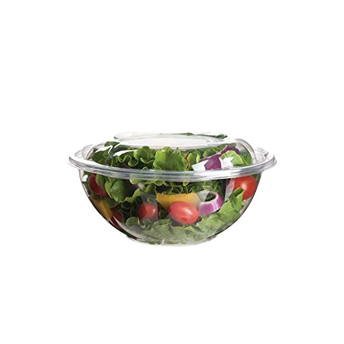Eco-Products Renewable & Compostable Salad Bowls, 24 oz Bowl with Lid, Case of 150 (EP-SB24)