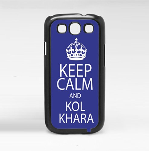"""Funny Blue and White """"Keep Calm and Kol Khara"""" Arabic Saying Meaning """"Eat Sh*t"""" Hard Snap on Phone Case (Galaxy s3 III)"""
