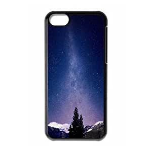 XiFu*Meiiphone 5/5s Case,Awesome Milky Way And Mountains Tree Hard Shell Back Case for Black iphone 5/5s Okaycosama376619XiFu*Mei