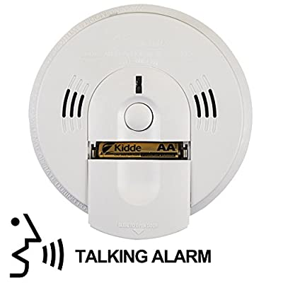 Kidde 21026043 Battery-Operated(Not Hardwired) Combination Smoke/Carbon Monoxide Alarm with Voice Warning KN-COSM-BA, 1 Pack, White