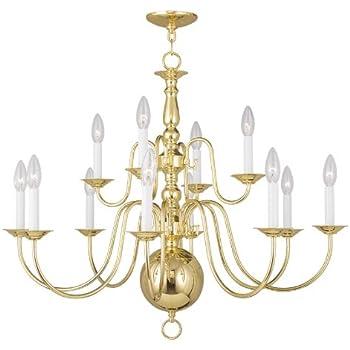 Livex lighting 5012 01 williamsburg 12 light two tier 84 livex lighting 5014 02 williamsburg 12 light chandelier polished brass aloadofball Images