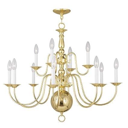 Livex lighting 5014 02 williamsburg 12 light chandelier polished livex lighting 5014 02 williamsburg 12 light chandelier polished brass aloadofball Image collections