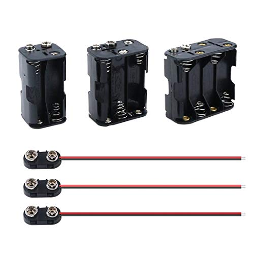 (3Pcs 4/6/8 X 1.5V AA Battery Holder with Standard Snap Connector)