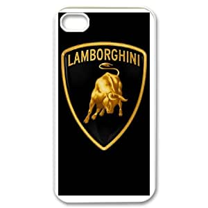 Diy Phone Cover Automobili Lamborghini for iPhone 4,4S Send tempered glass screen protector WEW940283