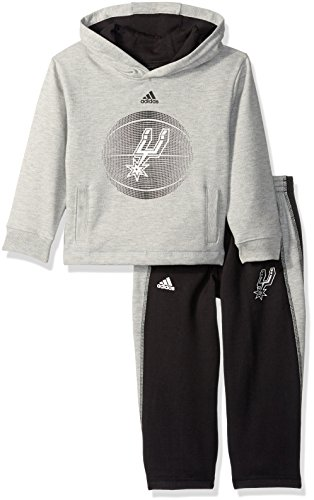 NBA Toddler San Antonio Spurs Classic Fan Fleece Set-Heather Grey-3T