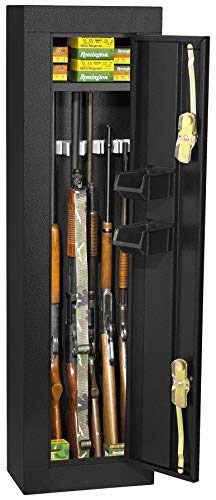 First Watch / Homak 6-Gun Security Cabinet, Gloss Black, HS30103605