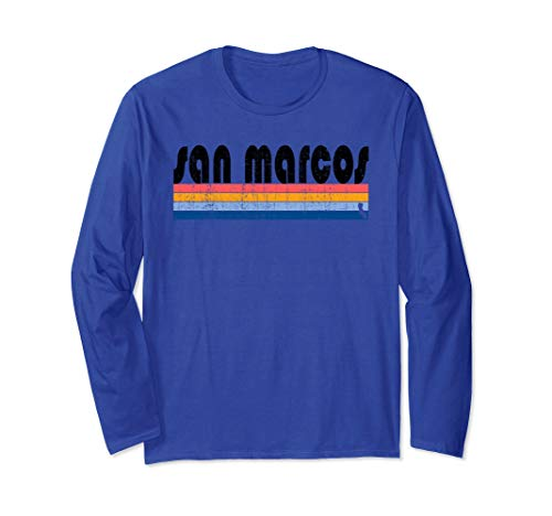 Vintage 80s Style San Marcos CA Long Sleeve T-Shirt -