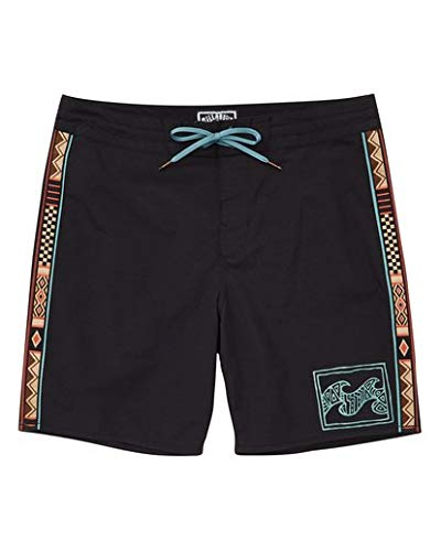 - Billabong Men's Atlas Jacquard Boardshorts Black 34
