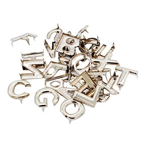 (SM SunniMix Wholesale 208Pcs Metal Letter Rivets Studs Rivet Buttons Fastener for Leather Belt Bag)