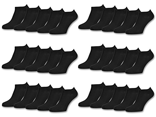 10 | 20 | 30 Paar Sneaker Socken Damen & Herren Schwarz & Weiß Baumwolle