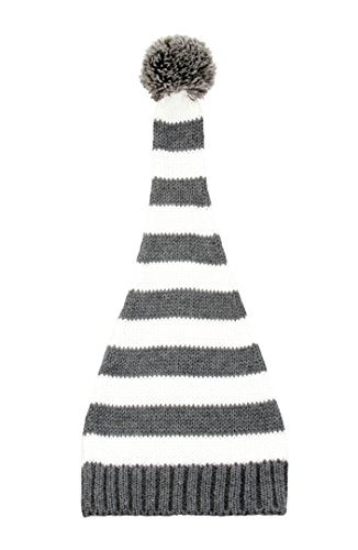 zefen Baby Newborn Knit Striped Beanie Hat Elf Top Pompom -
