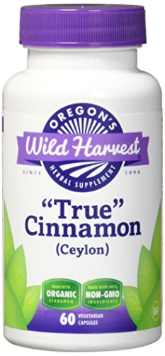 Oregon's Wild Harvest Non-GMO Cinnamon (Ceylon) Capsules, Organic Herbal Supplements (Packaging May Vary), 60 Count Review