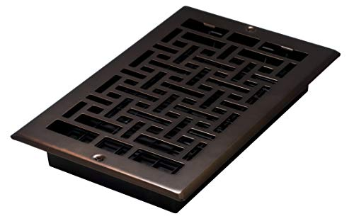 - Decor Grates AJL610W-RB Oriental Wall Register, 6-Inch by 10-Inch, Rubbed Bronze