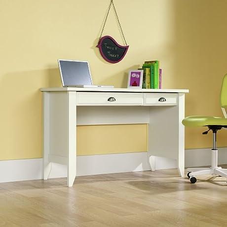Sauder Shoal Creek Computer Desk Soft White Finish