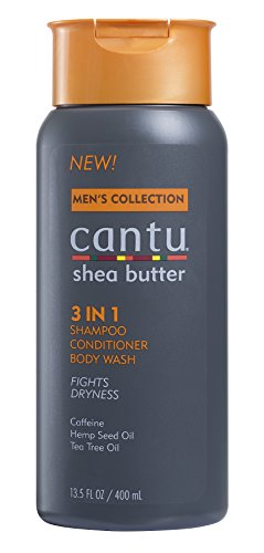 Cantu Shea Butter Men's Collection 3 in 1 Shampoo, Conditioner and Body Wash, 13.5 Fluid ()