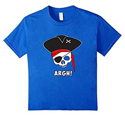 Argh! Pirate Shirt, Funny Halloween Costume Skeleton Skull