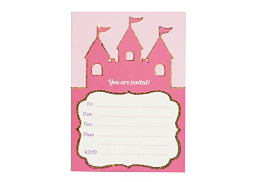 Once Upon a Time- Invitation Card Set | Set of 8 | Castle Cards | Baby Shower, Birthday Party | Princess Party Invite