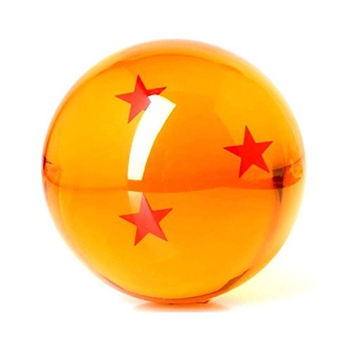 Dragon Ball Replica Ball with Three Stars for Dragon Ball Z Cosplay Prop Collection Accessories