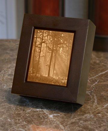 Woodland Sunbeams Lithophane Shadow Box Wood