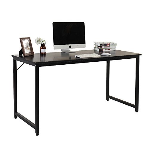 Soges 55'' Computer Desk Office Desk Writing Desk Workstation Desk Computer Table Gaming Table, Black JJ-BK-140 by soges