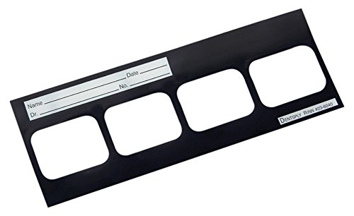 Dentsply 218180 EZ-View Series 21 Black Masked Mount, 121 mm Width, 308 mm Length (Pack of 100)