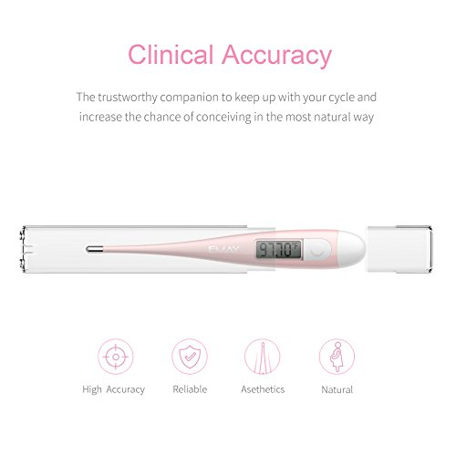 Basal Thermometer by Emay, Clinical BBT Accurate 1/100th Degree, Basal Body Temperature Thermometer for Natural Family Planning (No Backlight) by Emay (Image #6)