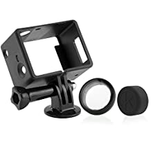 CamKix Frame Mount LCD / Battery Extension for GoPro Hero 4/3/3+ /USB, HDMI, and SD Slots Fully Accessible – Light and Compact Housing – For Use With LCD and Battery Extensions - 1 Large Thumbscrew /1 Tripod Mount /1 Rubber Lens Cap /1 UV Filter Lens Protector
