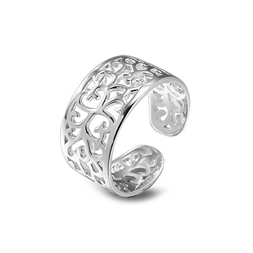 BODYA Petits anneaux pour les femmes Bracelet en argent Boucles d'oreilles ajustable ouvertes Anneau de queue Anneau à doigts roses