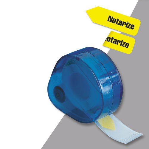 (Arrow Page Flags in Dispenser, ''Notarize'', Yellow, 120 Flags/Dispenser, Sold as 1 Package, 120 Each per Package)