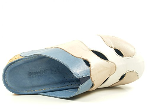 Woman Mules jeans/grau Multi coloured, (jeans/grau) 032176-02-822 BLAU