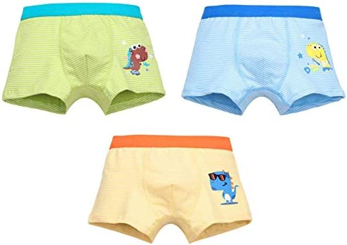 パンツ 男の子 パンツ ボーイズパンツ 下着 3枚セット 恐竜柄 キッズ 綿 下着 子供 幼児 小学生 保育園 2-13歳選択可