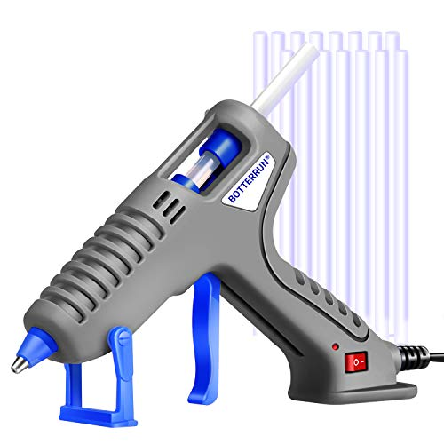 (Hot Glue Gun, BOTTERRUN 60W Mini Hot Melt Glue Gun Kit with 15pcs 5.9inch Adhesive Glue Sticks and Practical Stand, Professional Quick Heating for DIY Arts Crafts Carpets Sealing School Home Repairs )