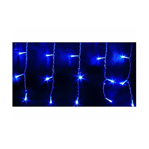 LED Tenda Luminosa, Catena Luminosa, Luci cascata, Luci per Tende, 216 LEDs 5M Natale Luci Stringa Bianco Caldo 8 Modalità Impermeabili IP44, per Natale finestra, porta, patio, giardino, feste, Blu 3 spesavip