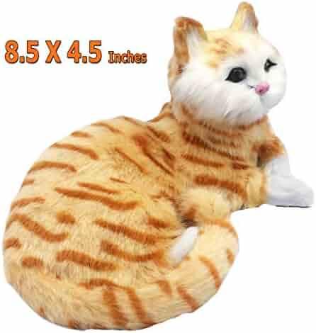 3656b9c6846b SAVERSMALL Lifelike Cat, Realistic Cat, Fur Kitten, Tabby Cat Toy, Kitty  Figurine