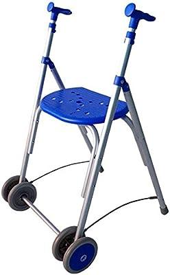Andador Rollator | De aluminio | Plegable | Regulable en altura | Color azul