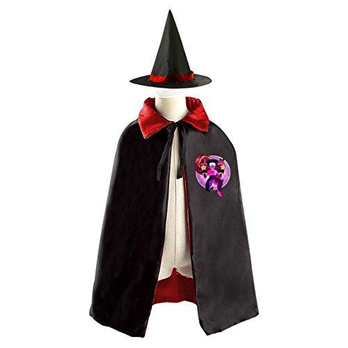 Garnet Cosplay Costume (Garnet Children Kids Halloween Cape Cosplay Party Costume Cloak Cape Witch Hat)