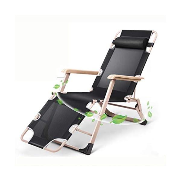 MXueei Regolabile Poltrona Chaise, con poggiatesta Sedia gravità bracciolo reclinabile Lounger Zero Nap Bed Sedia… 1 spesavip