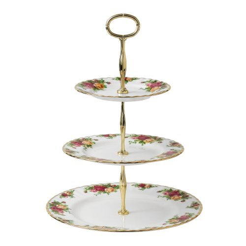 Royal Albert Old Country Roses 3-Tier Cake Stand by Royal Albert